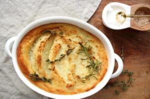 Broiled Mashed Potatoes with Herbs