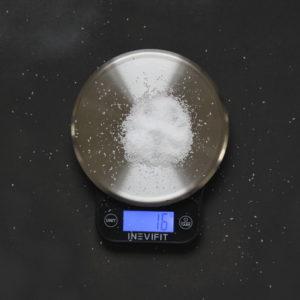 salt on scale