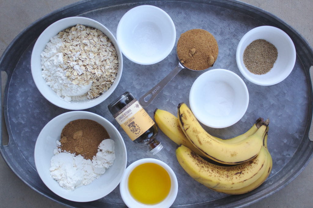 banana streusel muffins ingredients