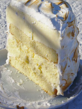 Lemon Meringue Ice Cream Cake Gluten Free