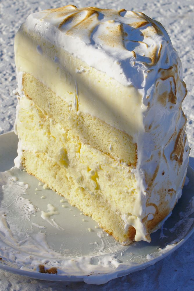 Lemon Meringue Ice Cream Cake
