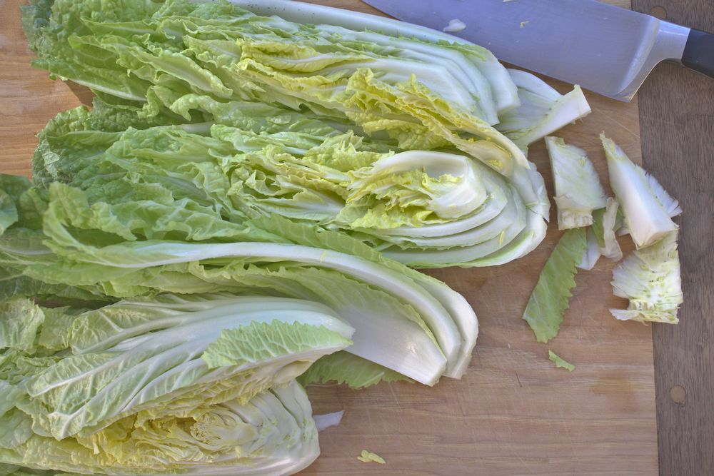 how to remove core from cabbage