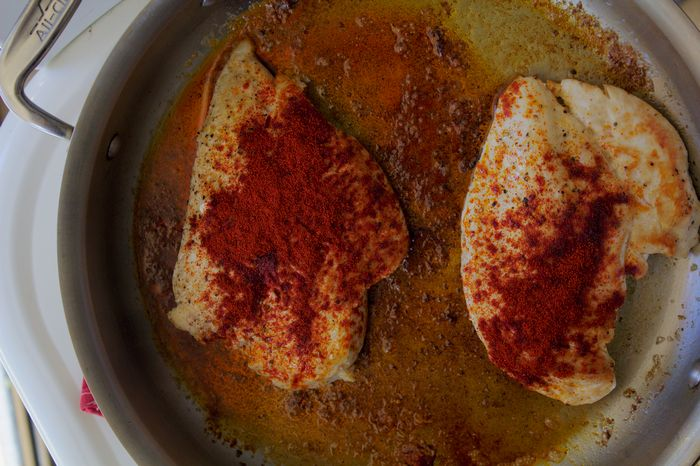 pan-seared chicken breast with paprika