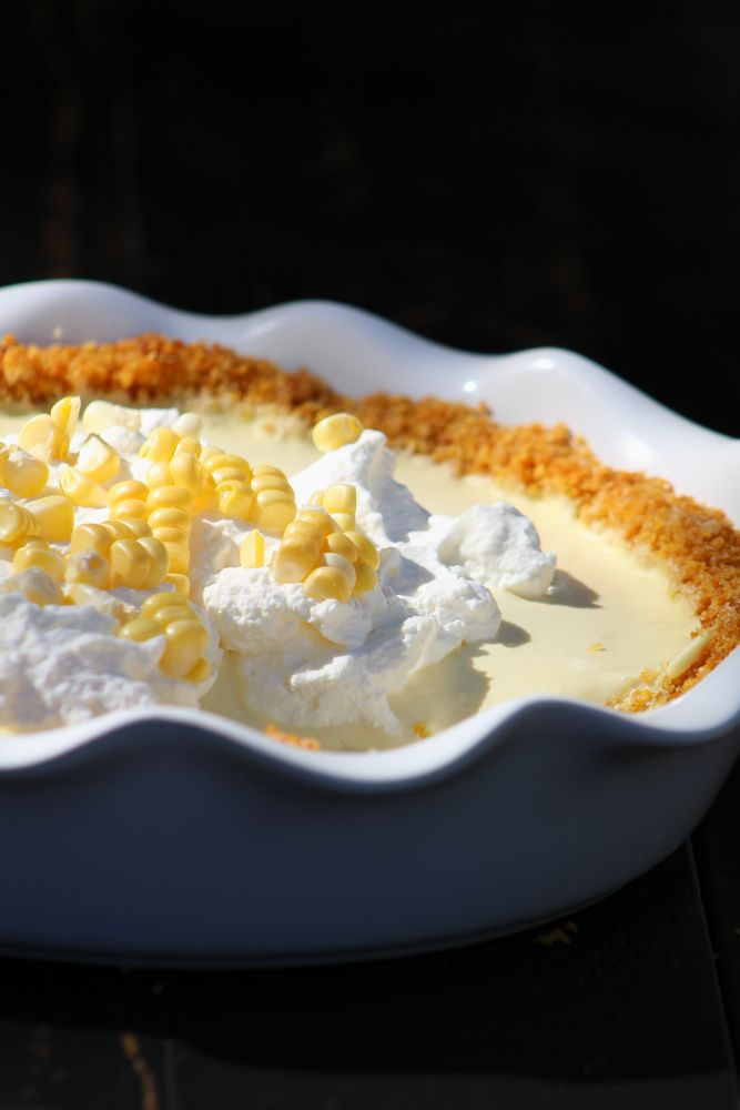 sweet corn cream pie