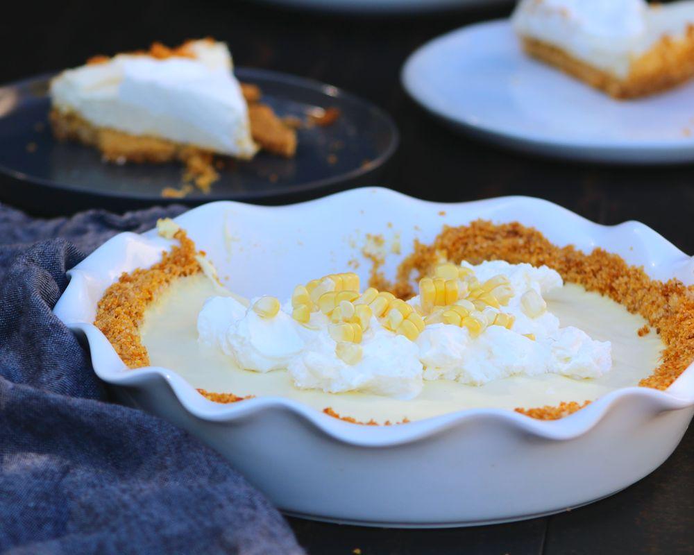 corn cream pie slices