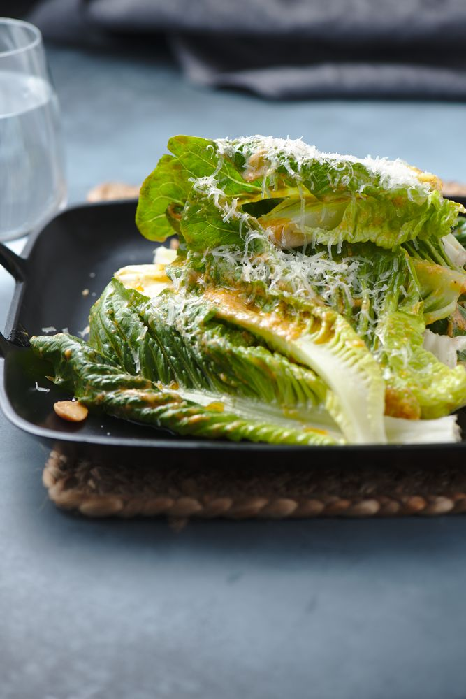 Caesar salad with marcona almonds and manchego cheese