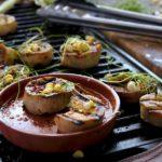 grilled trumpet mushrooms
