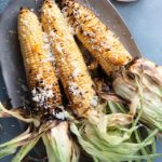 grilled corn on the cob with ancho oil