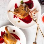 duck confit with plum sauce