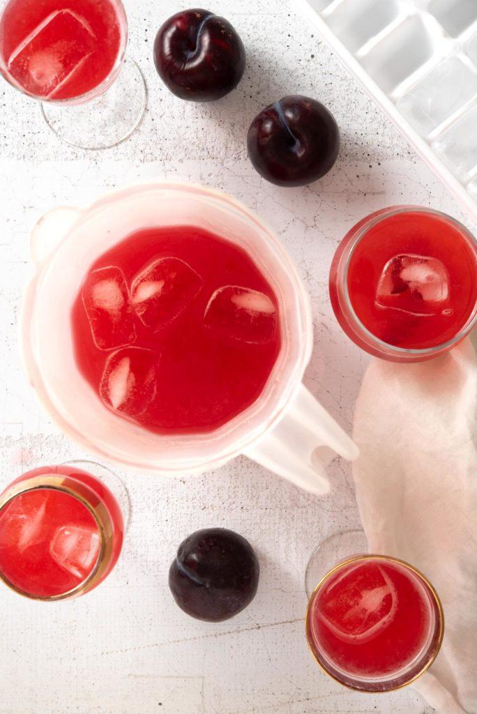 salted plum lemonade drink