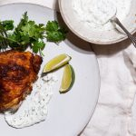 roasted chicken thigh with yogurt sauce