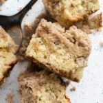 chai topped crumb cake