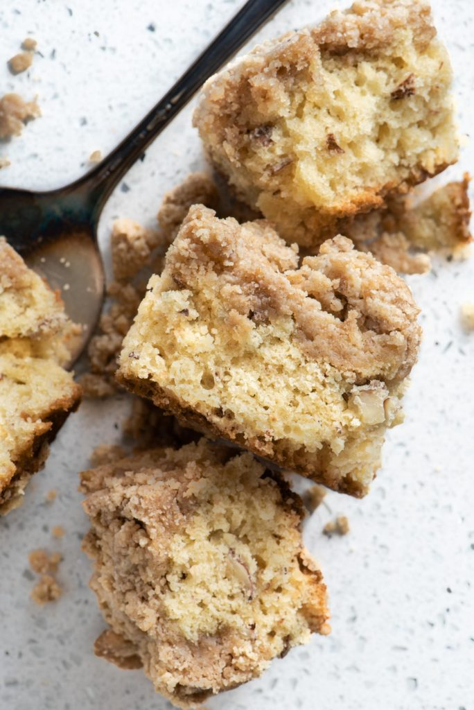 streusel topping infused with chai spices and coffee cake