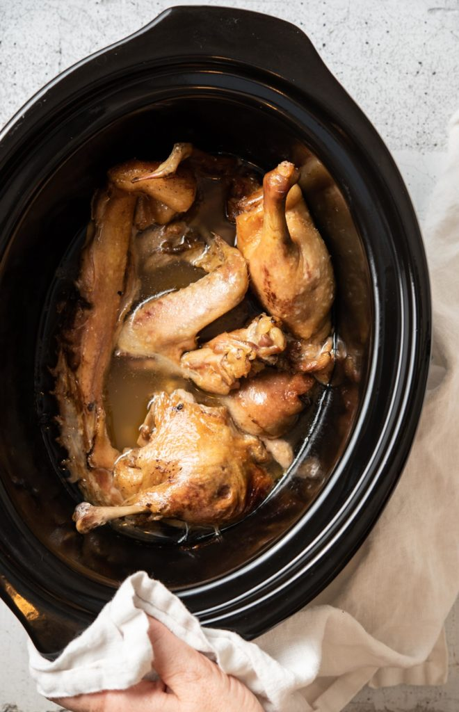 duck confit in a crock pot