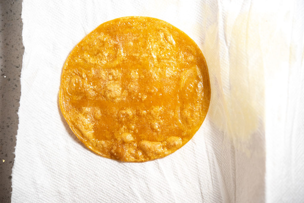 softened corn tortilla
