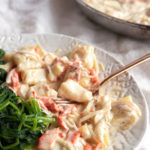 ricotta gnocchi with smoked salmon cream sauce and spinach