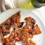 crispy oven roasted sundried tomato polenta