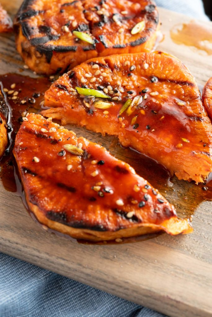 tender texture inside yams with glaze