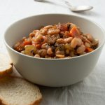 great northern beans Greek style with bread