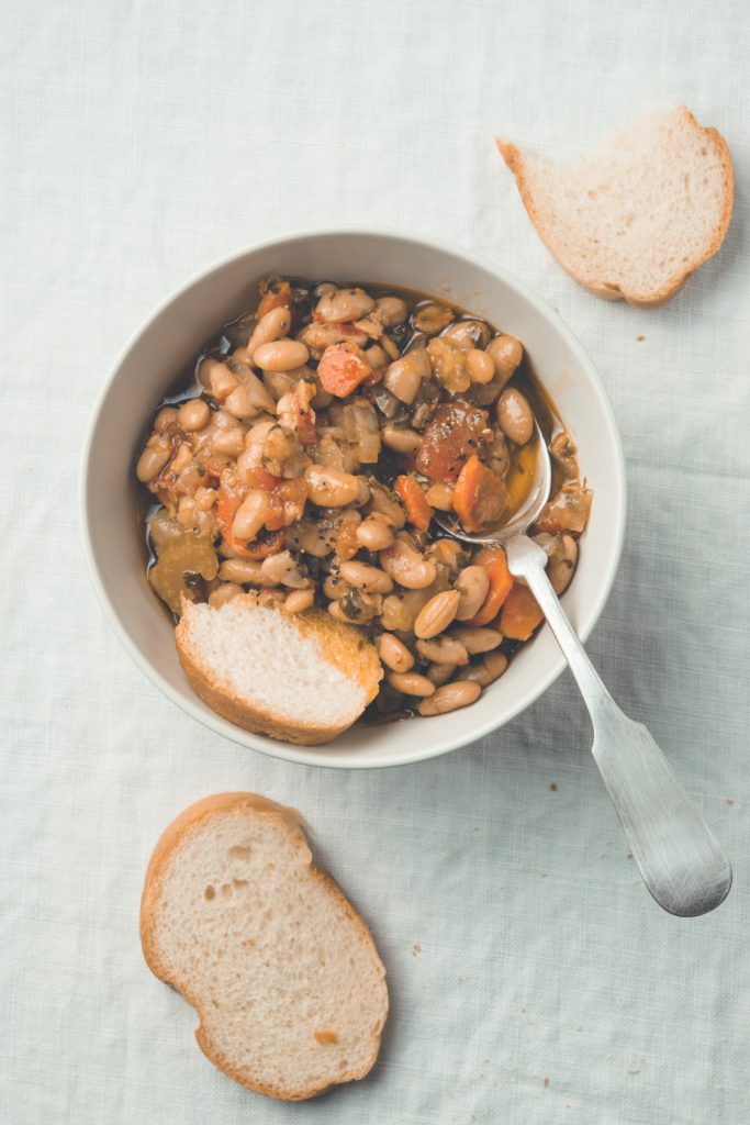 great northern beans in tomato herb broth