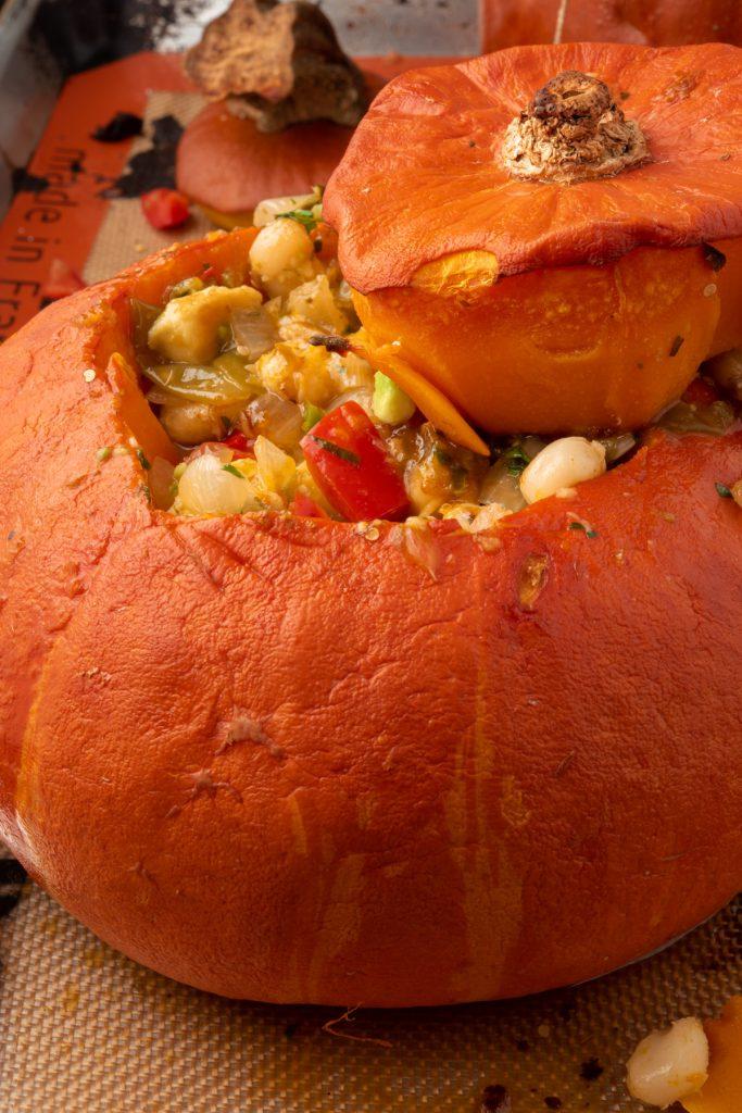 baked pumpkin stew