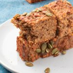 zucchini-carrot-parsnip bread on plate