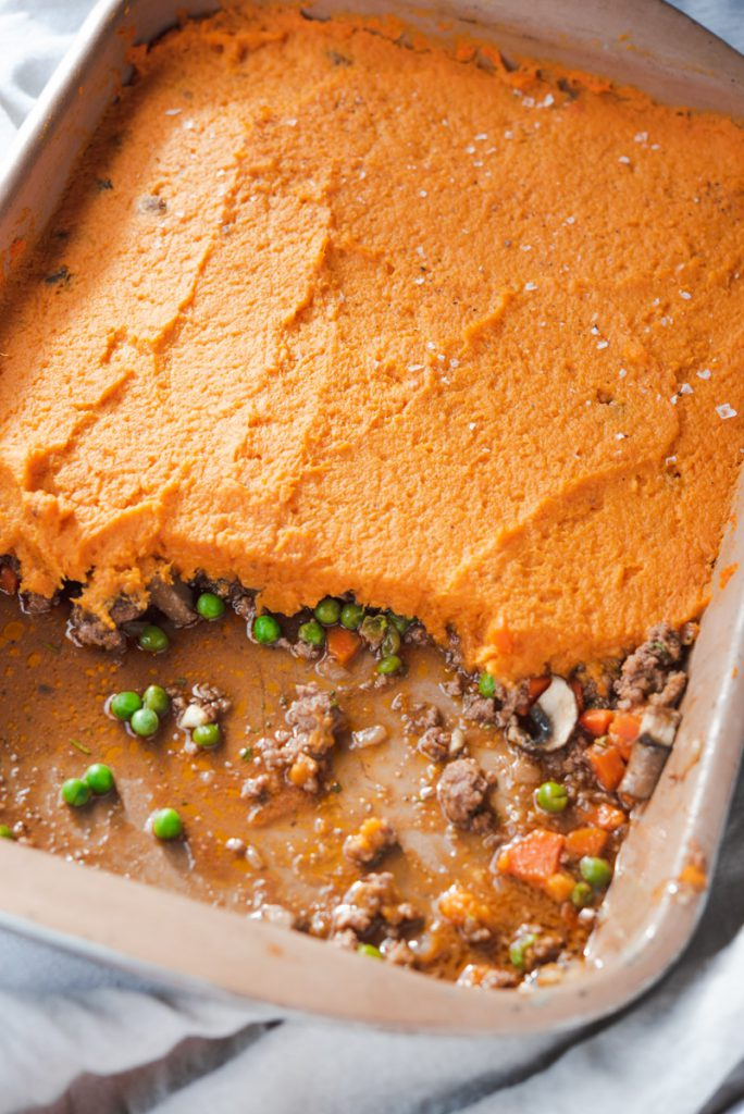 shepherd's pie with sweet potato mash