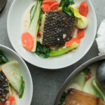 thai see bass over coconut curry