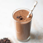 chocolate milkshake smoothie with banana