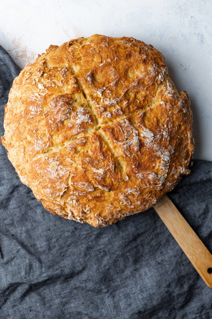 Traditional Irish soda bread bouille