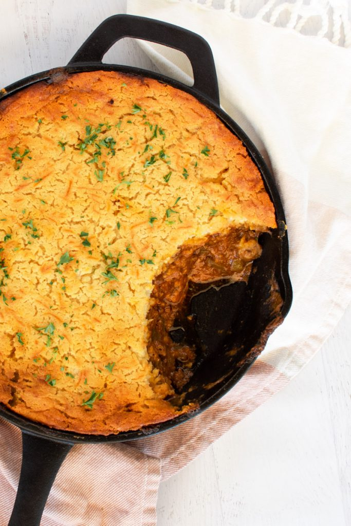 tamale pie with beef and chiles