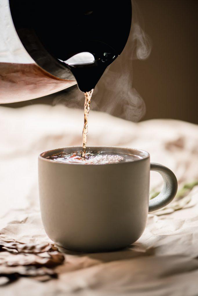 caffeine free freshly brewed mesquite coffee