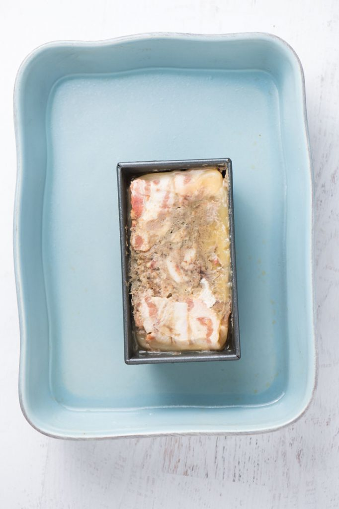 pork terrine with liver and pistachios (country pate)