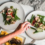 pork tenderloin cilantro sauce polenta and ratatouille