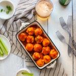 chicken meatballs with buffalo sauce