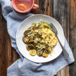 zucchini bowl with scrambled egg