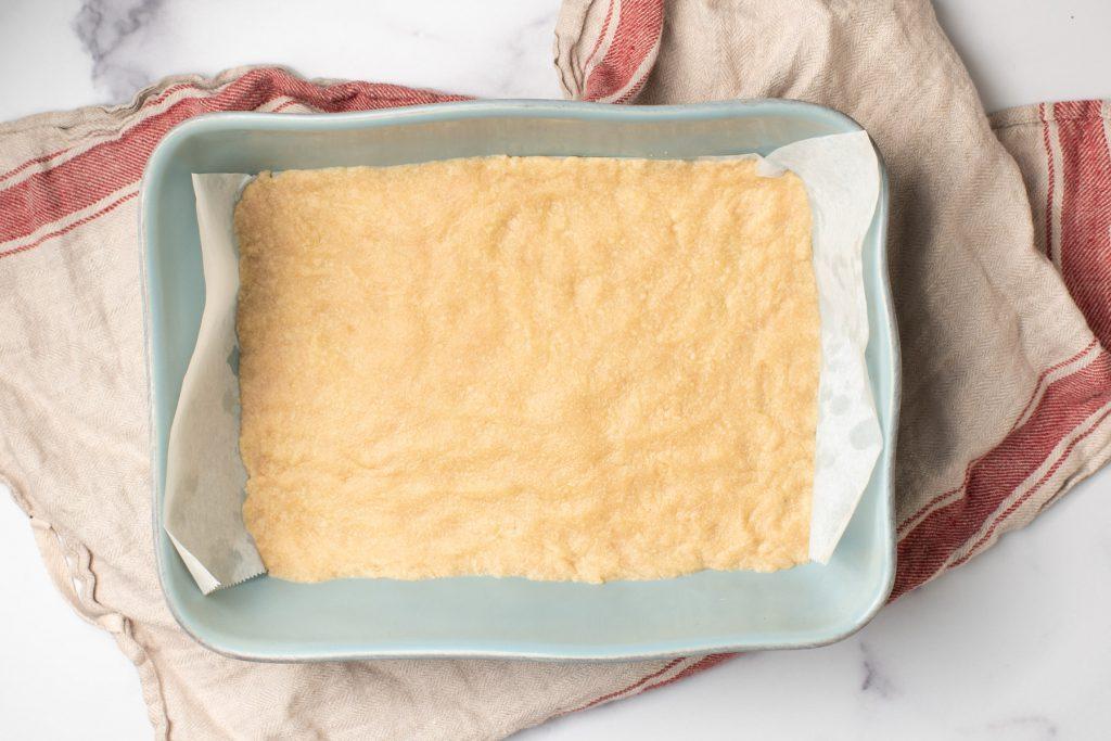 par-baked shortbread crust